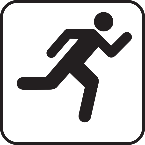 Person running away