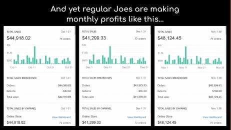 Sales, not profit, figures