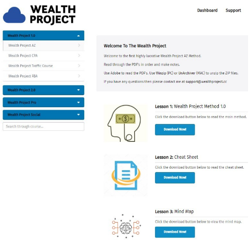 Wealthy Project System Dashboard