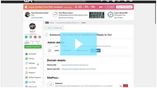 Create a website video image
